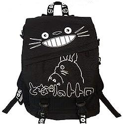 Sac à dos en toile Mon Voisin Totoro, pour l'école - Gris - Taille unique