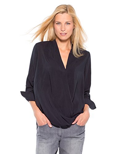 Balsamik - Blusa in viscosa, statura - di 1,60 m - donna - Size : 60 - Colour : Nero