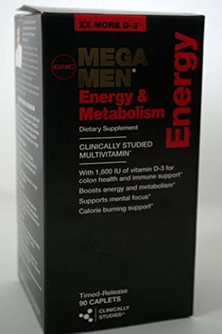 GNC Mega MEN Energy & Metabolism 90 Caplets Multivitamin Pack