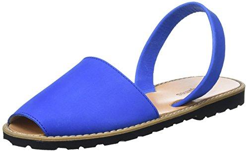 Minorquines Damen Avarca Sandalen Bleu (Bleu Océan)