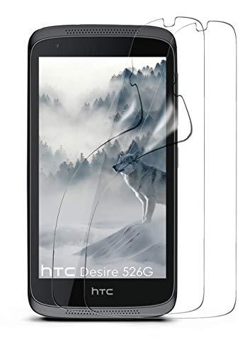 moex 2X HTC Desire 526G | Schutzfolie Klar Bildschirm Schutz [Crystal-Clear] Screen Protector Display Handy-Folie Dünn Bildschirmschutz-Folie für HTC Desire 526G/526 G Plus Bildschirmfolie