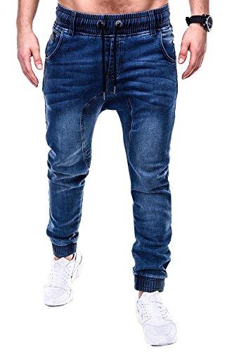 Ombre-Eight Harem Jogg-Jeans Hose P407 Blau