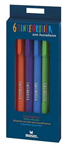 moses. 26112 Tintenroller zum Ausradieren, 6er-Set