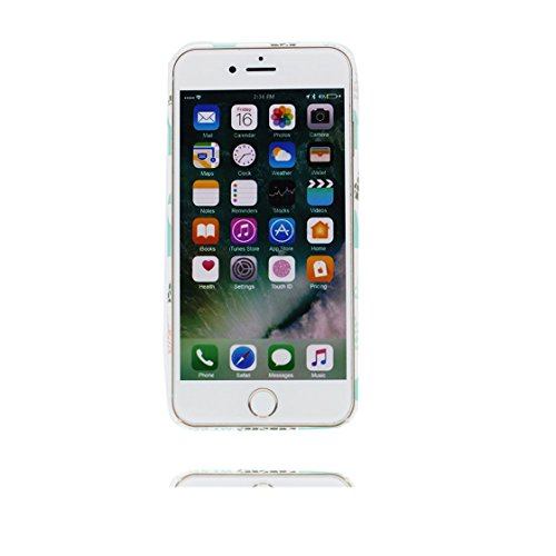 Custodia iPhone 7, iPhone 7 copertura (4.7 pollici)   Gel durevole TPU morbido protettivo Case posteriore Stars Polvere anti shock   Cartoon Forme geometriche # 3
