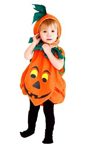 SHUNLIU Baby Kürbiskostüm Kostüm Kürbis für Kinder Halloween Babykostüm orange mit (Kostüme Vogelscheuche Baby)