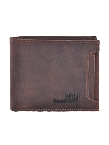 Second SKIN Brown Coloured Genuine Leather Made Wallet For Men's