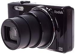 Kodak PixPro FZ151 16 MP Point and Shoot Camera (Black) with 15x Optical Zoom