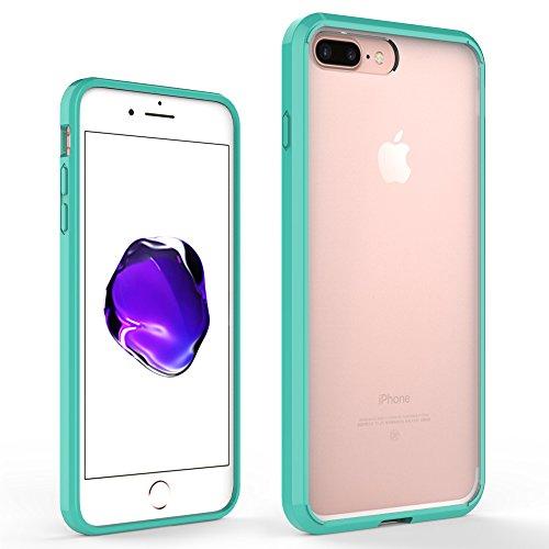 FoneExpert® iPhone 7 Plus - Ultra Air Hybrid Etui Housse Coque La face arrière Claire Avec Bumper en TPU Case Cover pour iPhone 7 Plus (Menthe) Menthe