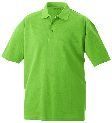 James & Nicholson Herren Poloshirt Function Polo Grün (Grass)