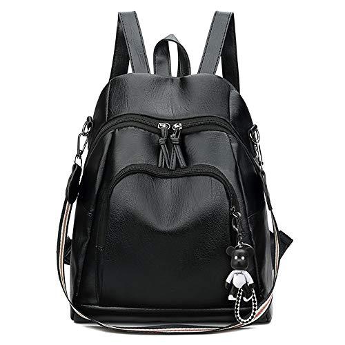 DelongKe Hochleistungsrucksack Rucksack Umhängetasche Handtasche Frauen Casual Daypack Wasserdichter Pu-Leder-Rucksack mit abnehmbarem Schultergurt-Umhängetasche