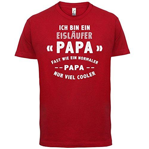 Ich bin ein Eisläufer Papa - Herren T-Shirt - 13 Farben Rot