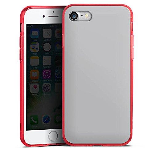 Apple iPhone 8 Silikon Hülle Case Schutzhülle Graphit Grau Grey Silikon Colour Case rot