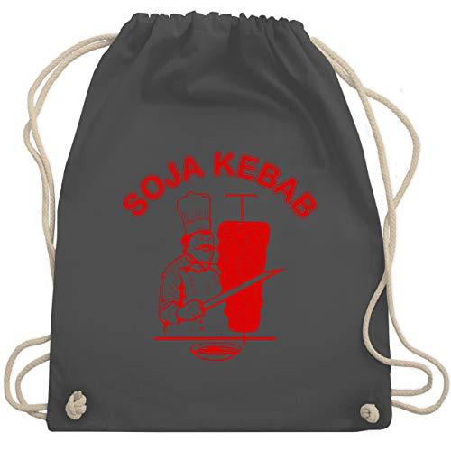 Baby Toast Kostüm - Karneval & Fasching Kinder - Soja Kebab Logo Vegan Vegetarisch - Unisize - Dunkelgrau - WM110 - Turnbeutel & Gym Bag
