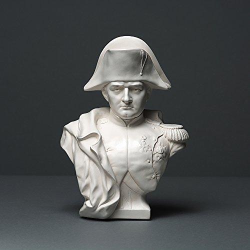 Napoleon-büste (Napoleon Bonaparte Skulptur aus hochwertigem Zellan, echte Handarbeit Made in Germany, Büste in weiß, 21cm)