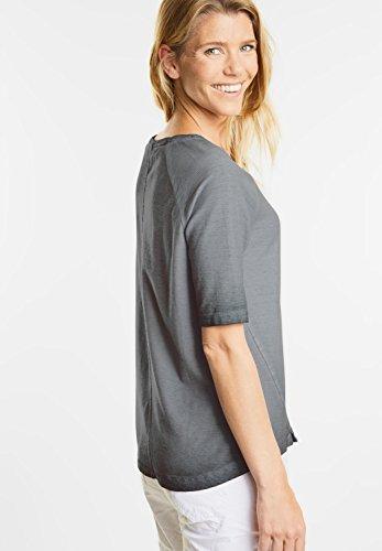 CECIL Damen Strukturshirt in Neonfarben graphit light grey (grau)