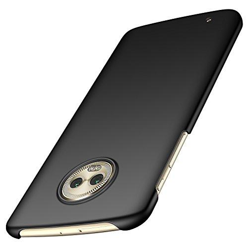 Arkour Moto G6 Hülle, Minimalistisch Ultradünne Leichte Slim Fit Handyhülle mit Glattes Matte Oberfläche Hard Case für Motorola G6 (Glattes Schwarz) Slim Fit Hard Case