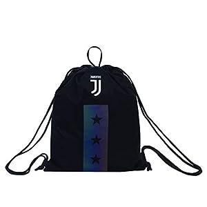 Seven Juventus Sakky Bag Bolsillo Suelto para Mochila, 47 cm, Negro (899)