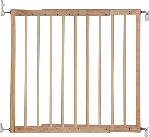 IB-Style – Treppengitter / Türgitter KIM | Spannbreite: 63 – 103.5 cm | zum Schrauben | aus massivem Holz – Natur - 2