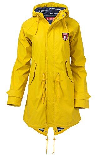 Damen Mantel Derbe Travel Friese Coat, Gelb, Eu-38
