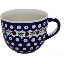 Original Bunzlauer Keramik Milchkaffeetasse (Cappuccino-Tasse) 0.35L im Dekor 41