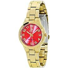 Reloj Marea Señora B21153/6 Dorado y Rojo esfera pequeña