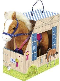 Busse Pferde IVA im Stall, bunt