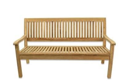 Teak Gartenbank 150cm ergonomisch geformt von Linder Exklusiv GmbH