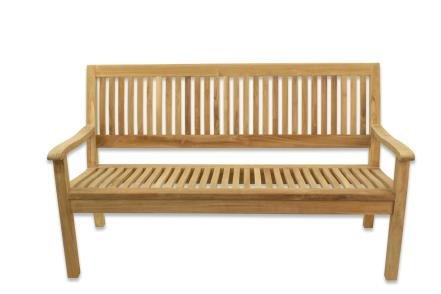 Teak Gartenbank 150cm ergonomisch geformt
