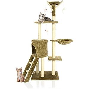 Cozy Pet Kratzbaum Deluxe Multi Level Cat Spielstation Kratzbaum Toys mit schweren Pflicht Sisal Kratzbäume in Light Coffee L ct06-lt Kaffee