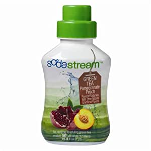 Sodastream - concentre the vert peche grenade 500ml - Sirop pour machine à gazéifier Soda-Club