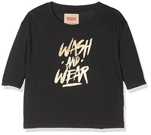 Levi's t-shirt, maglietta a maniche lunghe bambina, black, 8 anni