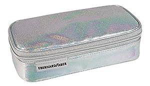 Eberhard Faber 577561Estuche Jumbo, Glitter Plata, Multicolor
