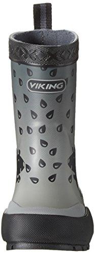 Viking Plask, Bottes de Pluie mixte enfant Schwarz (Black)