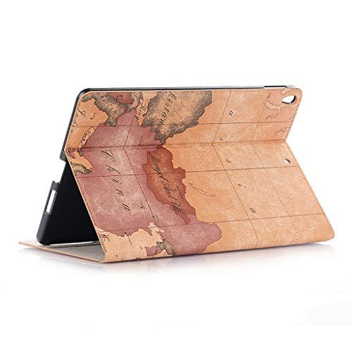 Sixcup® Marbled Tablet Case für iPad 9,7-Zoll-Fall Ultra Dünn Smart Hülle Leichte Stand Schutzhülle Shell Stand Cover Stifthalter mit Auto Sleep/Wake 2018 (A) (7-zoll-tablet-fällen)