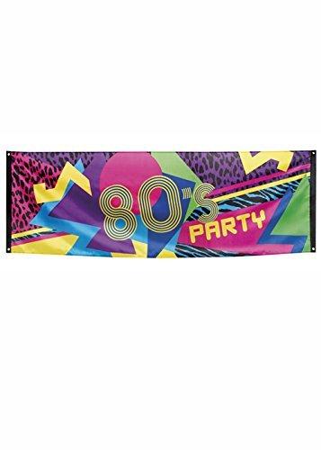 Große 80er Jahre Party Dekoration Flagge Banner