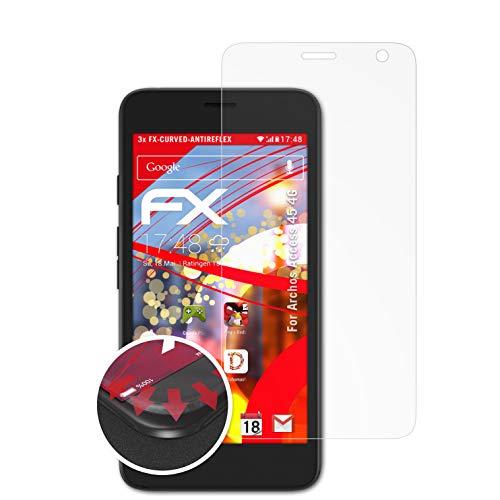 atFolix Schutzfolie passend für Archos Access 45 4G Folie, entspiegelnde & Flexible FX Bildschirmschutzfolie (3X)