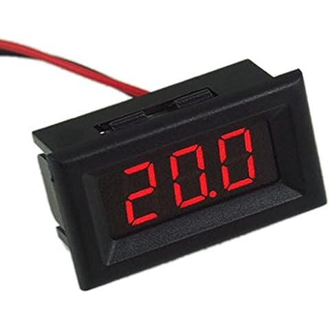 Eaglerich alta qualità mini due fili digitale voltmetro display a led rossi DC2.5-30V tester di tensione del rivelatore di tensione libera di trasporto CA1T