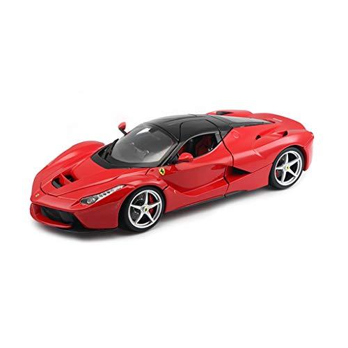 Modelo de Coche Modelo de automóvil de aleación Ferrari Modelo de automóvil Deportivo Original Laferrari Regalo de Tapa Dura Versión de Tapa Dura Ferrari 488 - Rojo 021 (Color : Red)