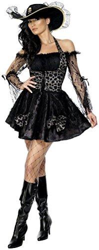 SMIFFY 'S Fever Sexy Mantel- und-Degen Fancy Dress Damen Kostüm (Mantel Degen Pirat Kostüme Und)