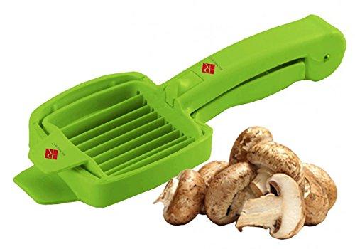 Pilz- & Eierschneider - grün - Pilzschneider - Pilzteiler - Mozzarellaschneider - Eierteiler - Eier Teiler - Eischneider - Mozzarella Schneider - Mozzarellateiler - Champignonschneider