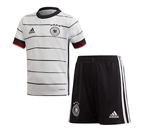 adidas Kinder DFB H Mini Football Set, top:White/Black Bottom:Black, 4-5Y