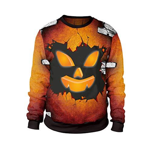 HHyyq Unisex Tracksuits Sport Pullover Herren Loose Langen Ärmeln Reifen Sweatershirt Tops Outwear Blouse Kleidung Bluse 3D Druck T-Shirt Rundhalsausschnitt Sweatershirt Mantel Kostüm (Top Guy Kostüm)