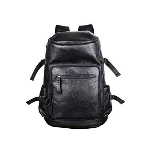 HF morning 15 Zoll Notebookrucksack Groß Laptop Backpack Herren Leder Rucksack Wasserdicht Einfarbig Schultasche