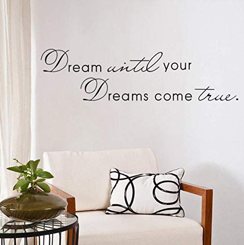 t Come True Inspiration Quote Words Home Decor Wall Sticker For Kids Room School Office Decoration ()