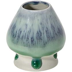 Matcha-Besenhalter - Keramik - türkis-grün