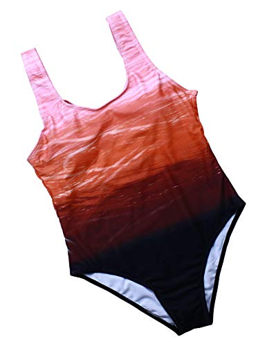 tengweng Damen Vintage Tribal Print Einteiler Badeanzug Gepolsterte Bademode Push Up Badeanzug Monokini - - Small - 4