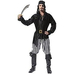 Traje de pirata para hombre, negro.