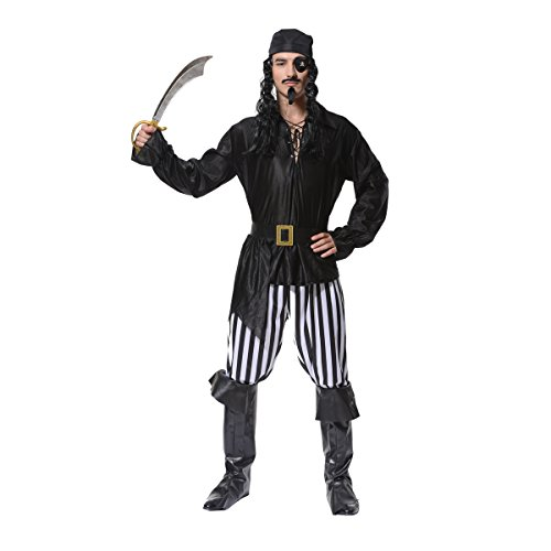 Seehase - Erwachsene Herren Piraten Halloween Kostüm Outfits