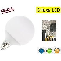 DiluxeLED - Bombilla LED G125 ,tipo globo,consumo 20W(equivalente a 200 W) casquillo gordo E27, 1600lumen, luz blanca 6400K(no regulable)