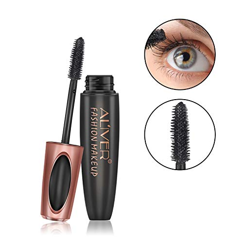4D Silk Fiber Wimpern Mascara, extra lange Lash Mascara natürliche dicke wasserdichte nicht blühende Augen Make-up